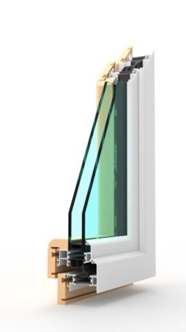 Agolo in fibra di vetro e legno